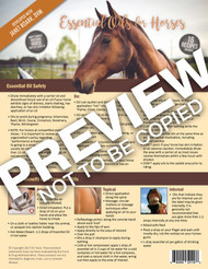 Essential Oils For Horses Tear Sheet Pad