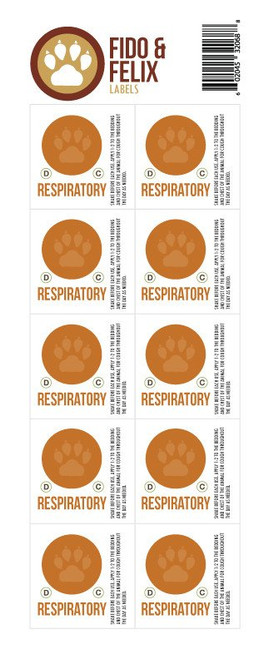 Respiratory Fido and Felix Make and Take Workshop Kit for Cat, Dogs, Pets and Animals Individual Label Sheets