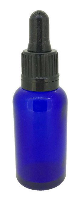 30 ml Cobalt Blue Boston Round Glass Essential Oil Bottles with Glass Dropper Caps