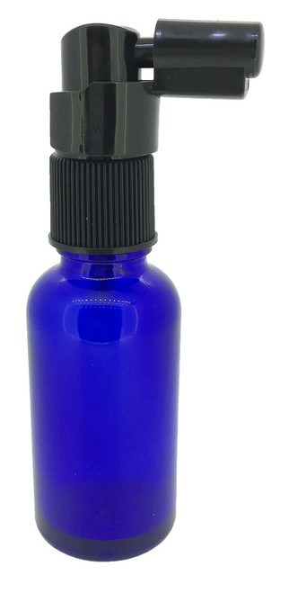 30 ml Cobalt Boston Round Glass Essential Oil Bottles with Throat Spray Caps
