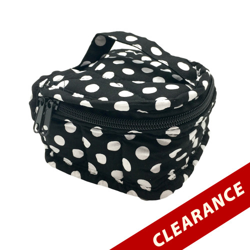 Black With White Dots Small Essential Oil Case