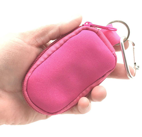 Hot Pink Keychain Essential Oil Personal Travel Bag For 2 ml Glass Bottles