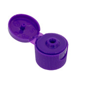 Purple Flip Lids For Boston Round Containers Including dōTERRA Essential Oil Bottles