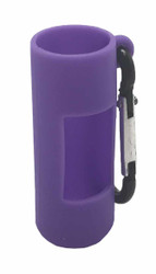 Purple Silicone Sleeve Holder For 10ml Essential Oil Rollerball Bottles