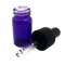 2 ml Boston Round Glass Purple Essential Oil Bottles with Glass Dropper Caps