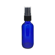 2oz Cobalt Blue Boston Round Spray Bottle With Fine Mist Sprayer For Essential Oils
