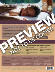 Bath and Body Recipes using Essential Oils Tear Sheet Pad