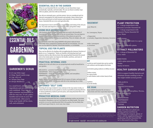 Essential Oils and Gardening | Unlimited Printing Digital Tear Pad