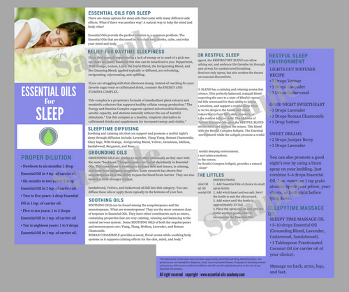 Essential Oils for Sleep| Unlimited Printing Digital Tear Pad