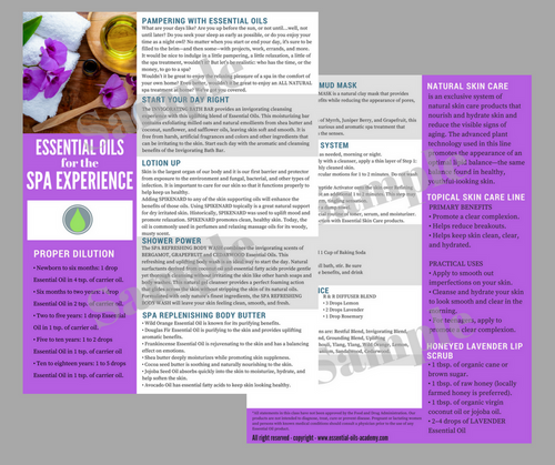 Essential Oils for the Spa | Unlimited Printing Digital Tear Pad