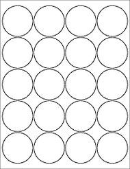 "2"" Circle Microsoft Word Label Template"