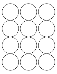 "2.5"" Circle Microsoft Word Label Template"