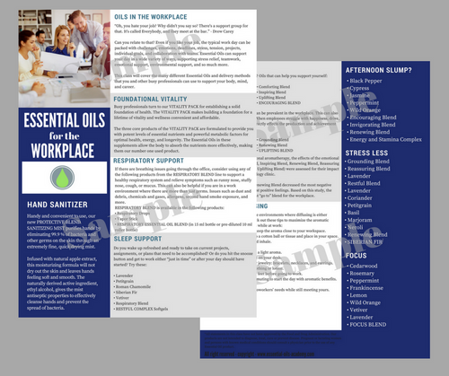 Essential Oils for the Workplace   Unlimited Printing Digital Tear Pad