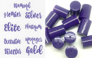 Purple Vinyl doTERRA Rank Labels with Purple 10ml Roller Bottle Lids for DIY Essential Oil Blends