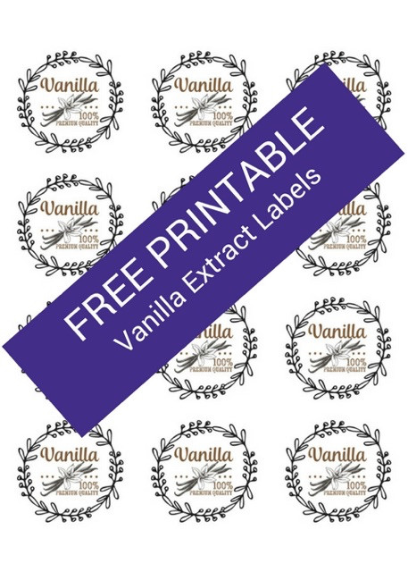 FREE Vanilla Extract Label Template