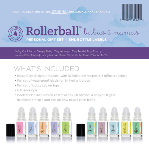 Rollerball Babies and Mamas Personal Gift Set for Essential Oils