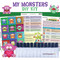 My Monsters DIY Kit for Kids, Children, Toddlers, Boys & Girls