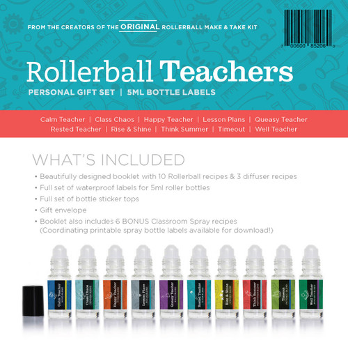 Rollerball Teachers Essential Oil Personal Gift Set
