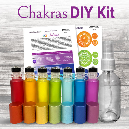 Chakras DIY Kit without Gemstone Rollers