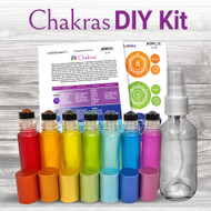 Chakra Essential Oil DIY Kit for Yoga WITH Gemstones