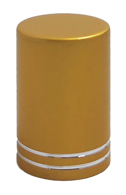 Matte Gold Roller Bottle Lids for 10ml and 1/6oz Roller Bottles