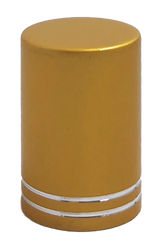 Gold Roller Bottle Lids for 10ml and 1/6oz Roller Bottles