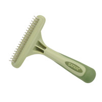 Safari by Coastal Pet Single Row Undercoat Dog Rake with Rotating Pins