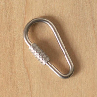 Dog Tag Collar Attachment Locking Carabiner