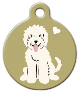 Dog Tag Art Labradoodle Doggie Pet ID Dog Tag