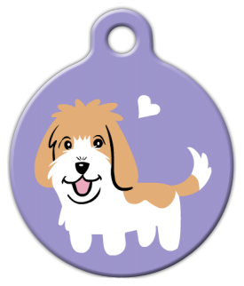 Dog Tag Art Petit Basset Griffon Doggie Pet ID Dog Tag
