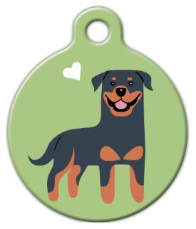 Dog Tag Art Rottweiler Doggie Pet ID Dog Tag