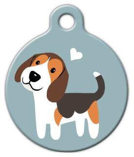 Dog Tag Art Beagle Doggie Pet ID Dog Tag