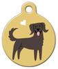 Dog Tag Art Flat-Coated Retriever Doggie Pet ID Dog Tag