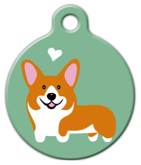 Dog Tag Art Corgi Doggie Pet ID Dog Tag