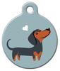Dog Tag Art Dachshund Doggie Pet ID Dog Tag