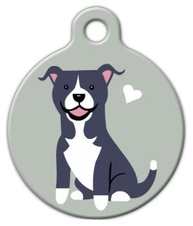 Dog Tag Art Pit Bull Terrier Doggie Tag Pet ID Dog Tag