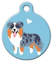 Dog Tag Art Aussie Shepherd Doggie Pet ID Dog Tag