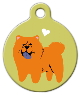 Dog Tag Art Chow Chow Doggie Pet ID Dog Tag