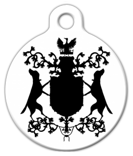 Dog Tag Art Labrador Coat of Arms Pet ID Dog Tag
