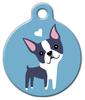 Dog Tag Art Boston Terrier Doggie Pet ID Dog Tag