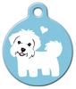 Dog Tag Art Maltese Doggie Pet ID Dog Tag