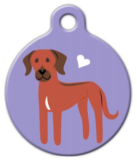 Dog Tag Art Rhodesian Ridgeback Doggie Pet ID Dog Tag