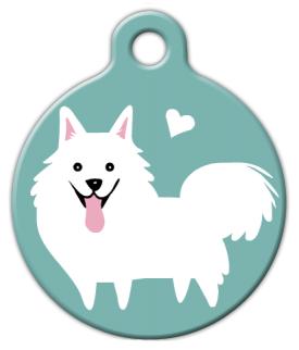 Dog Tag Art American Eskimo Doggie Pet ID Dog Tag