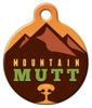 Dog Tag Art Warm Mountain Mutt Pet ID Dog Tag