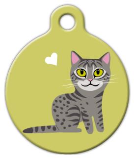 Dog Tag Art Mau Kitty Cat Pet ID Dog Tag