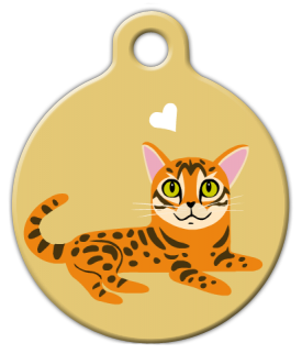 Dog Tag Art Bengal Kitty Pet ID Dog Tag