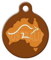 Dog Tag Art Aussie Kangaroo Pet ID Dog Tag