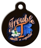 """Dog Tag Art Spell """"Trouble"""" Pet ID Dog Tag"""