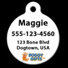 Dog Tag Art Personalized Side Sample