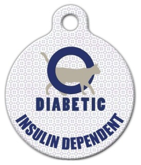 Dog Tag Art Diabetic Alert Cat Pet ID Dog Tag
